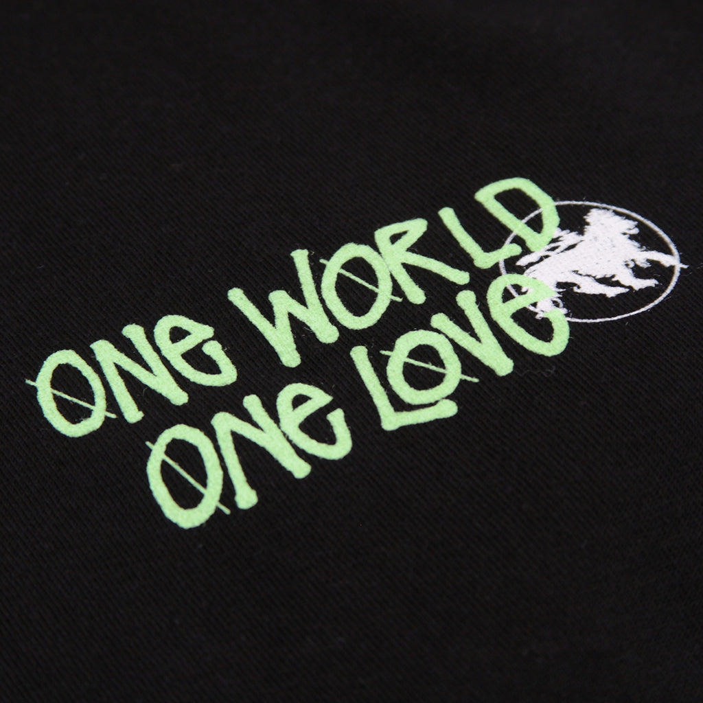 Stussy One World L/S T Shirt in Black - Front print
