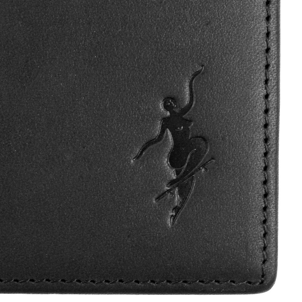 Polar Skate Co No Comply Wallet in Black - Emboss