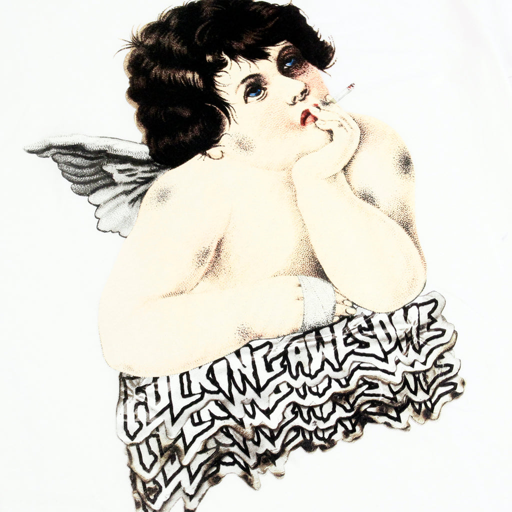 Fucking Awesome Angel 2 T Shirt in White - Print