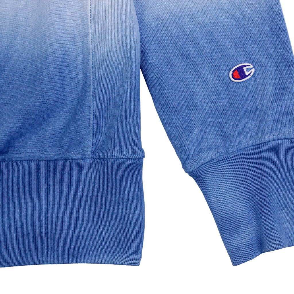 Champion Dip Dyed Classic Crew Neck Sweatshirt in Navy / White / Blue - Cuff