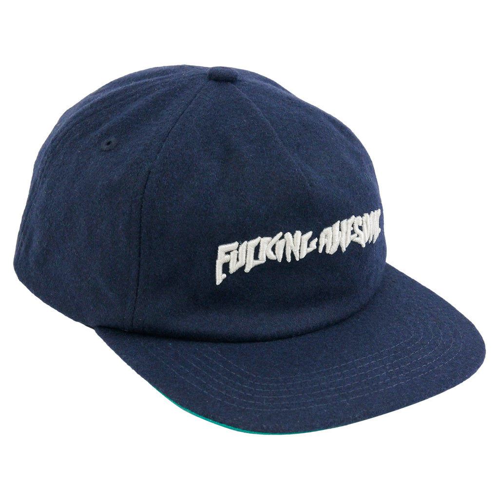 Fucking Awesome Classic Logo Wool Snapback in Navy