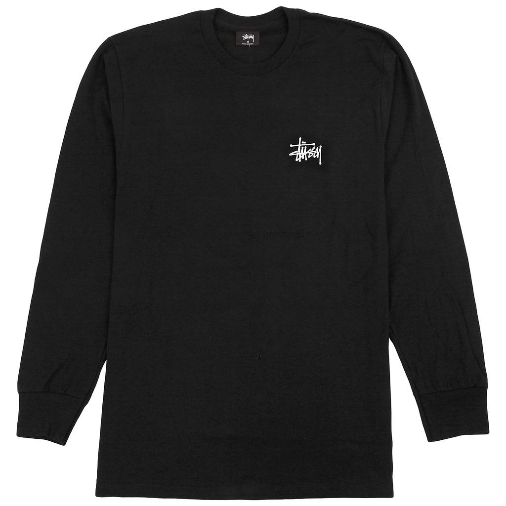 Stussy L/S Pin Up T Shirt in Black - Front