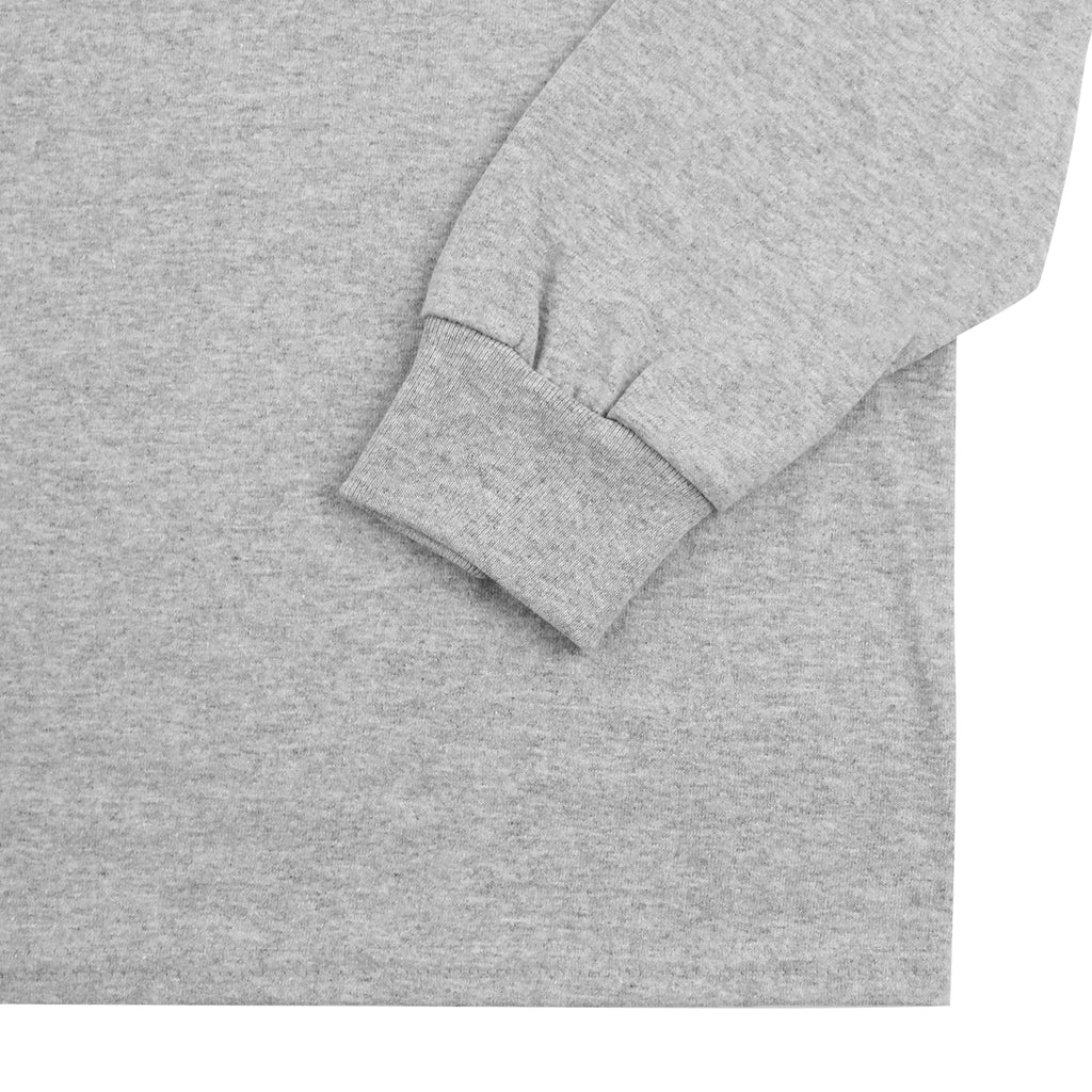 "Bored of Southsea ""Southsea"" Long Sleeve T Shirt in Heather Grey / Blue Box - Sleeve"