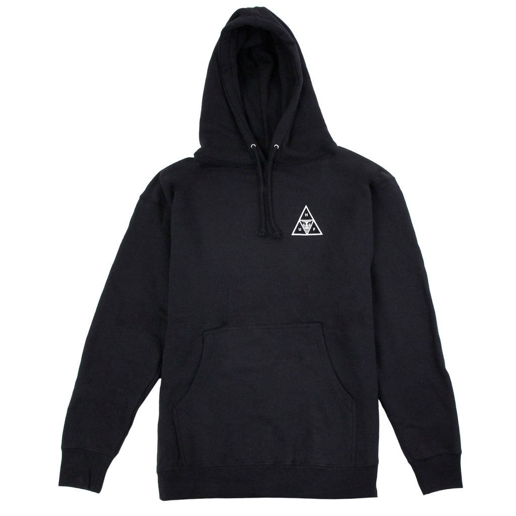 HUF x Obey Triple Triangle Hoodie in Black