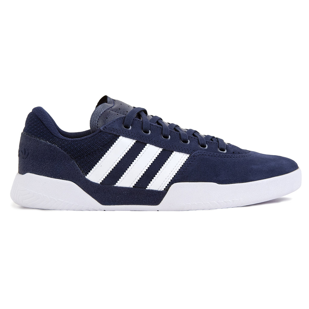 Adidas City Cup Shoes in Collegiate Navy / Footwear White / Footwear White