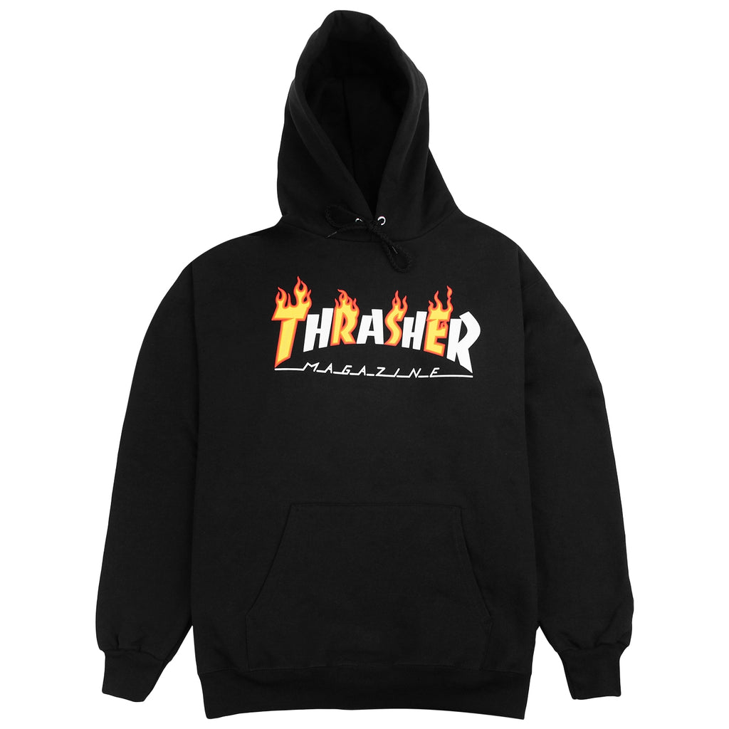Thrasher Flame Mag Hoodie in Black