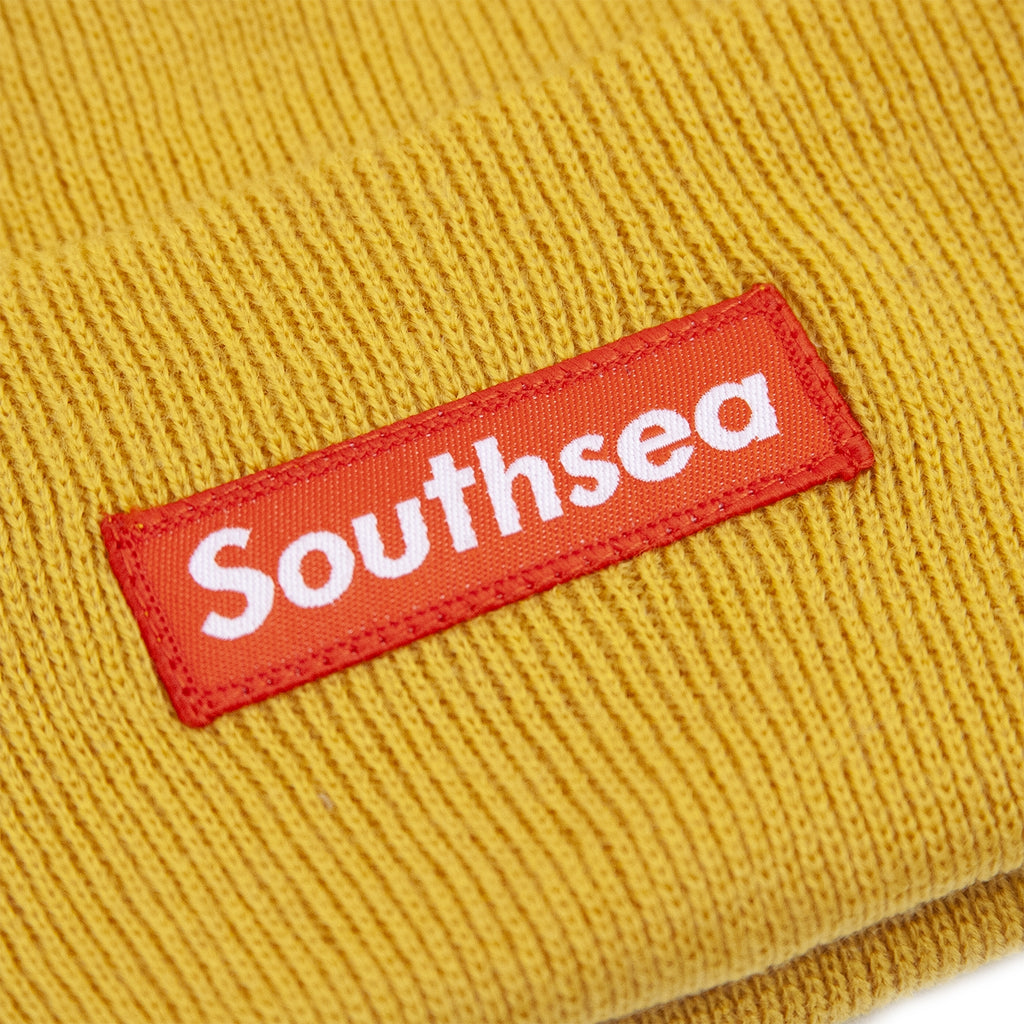 "Bored of Southsea ""Southsea"" Beanie in Mustard - Patch"