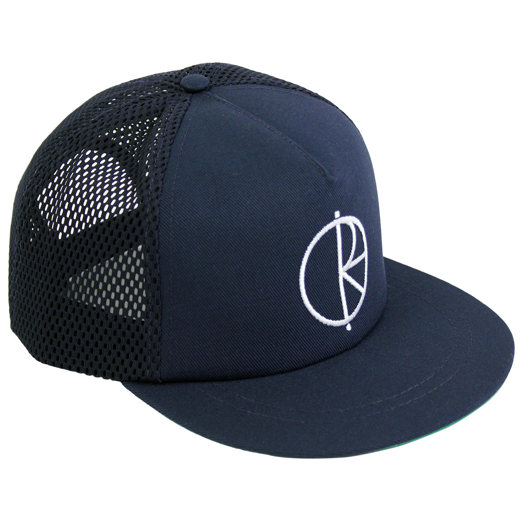 Polar Skate Co Trucker Snapback Hat in Navy / Green