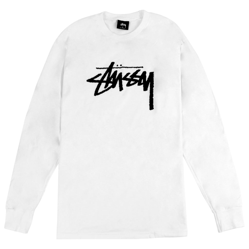 Stussy Stock L/S T Shirt in White