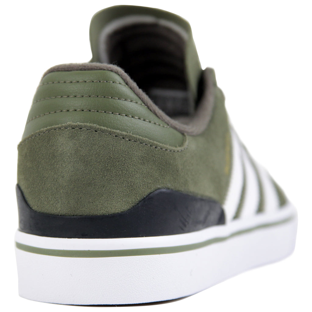 Adidas Busenitz Vulc Shoes in Olive Cargo / White / Core Black - Heel