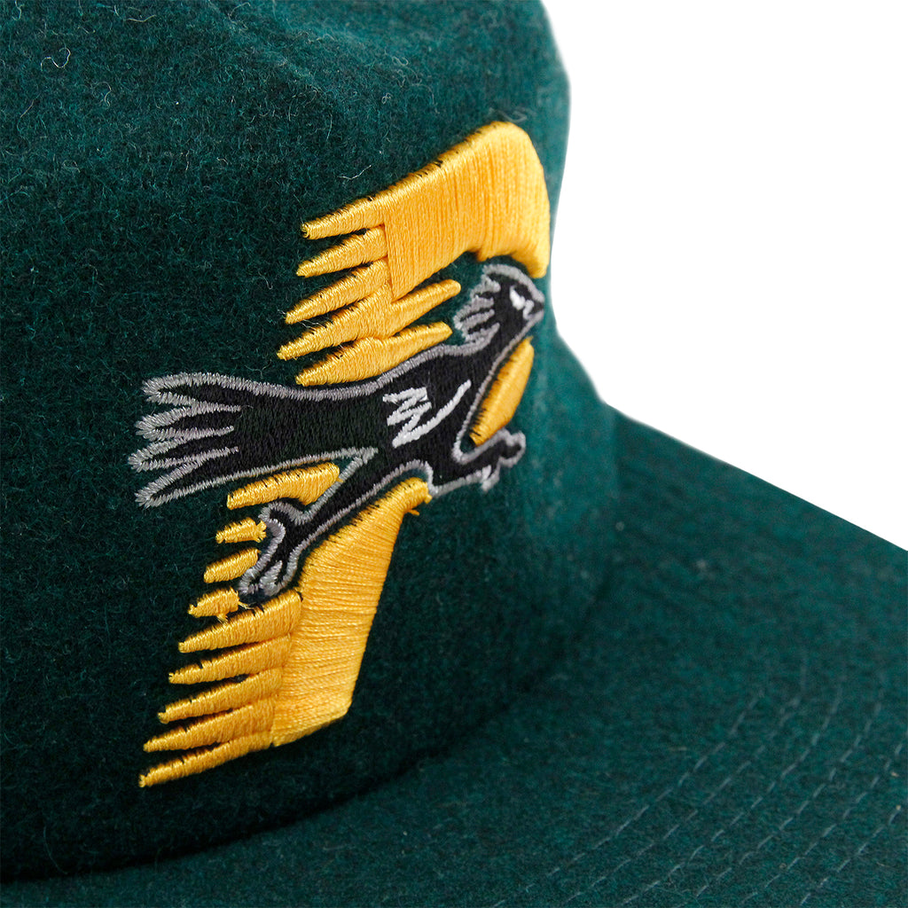 Palace Roadrunner Snapback in Dark Green - Detail