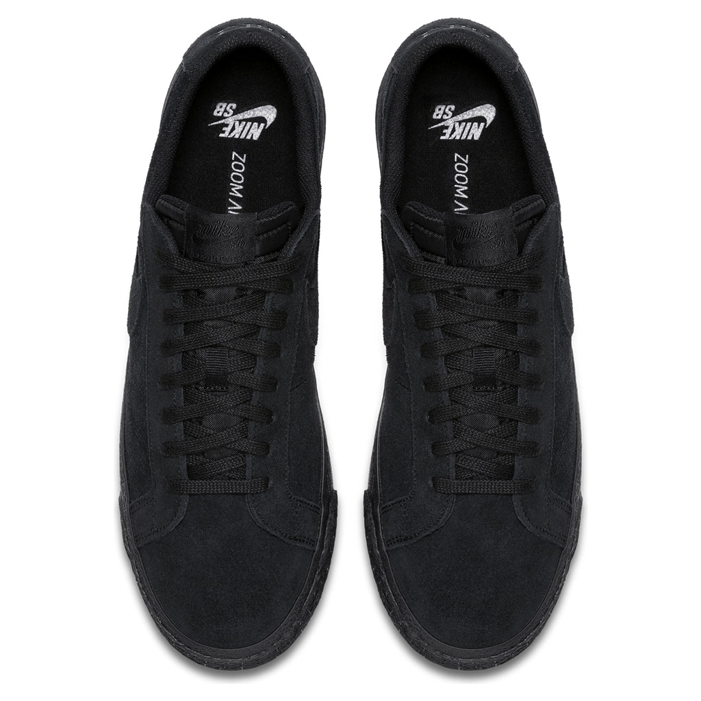 Nike SB Zoom Blazer Low Shoes in Black / Black - Gunsmoke - Top