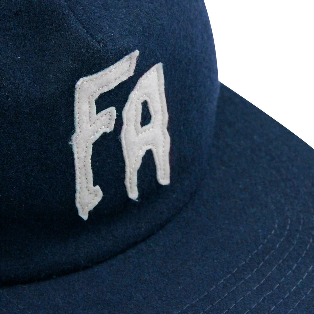 Fucking Awesome Classic FA Logo Wool Snapback Cap in Navy - Detail
