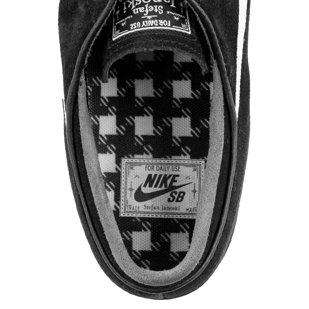 Nike SB Stefan Janoski OG Shoes in Black / White - Gum Light Brown - Inside