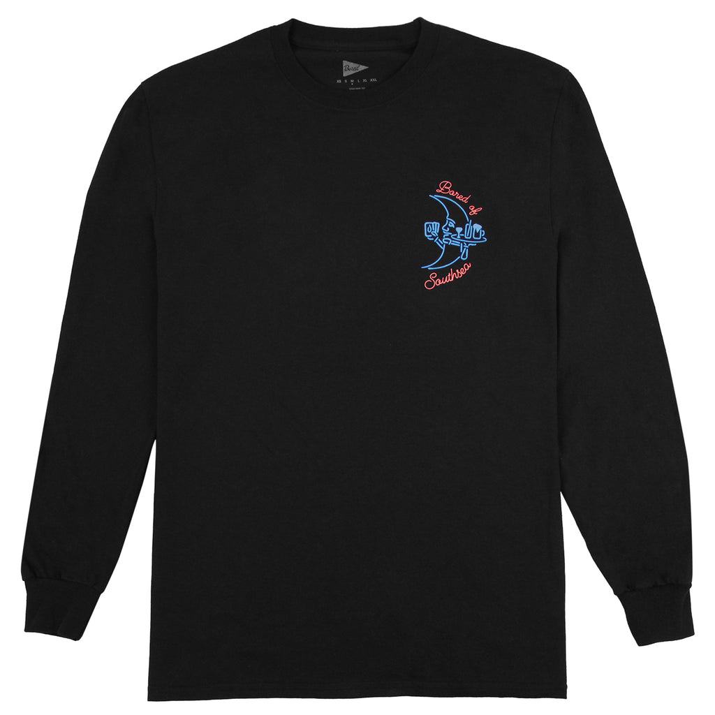Bored of Southsea Gentlemen's Club L/S T Shirt in Black - Front