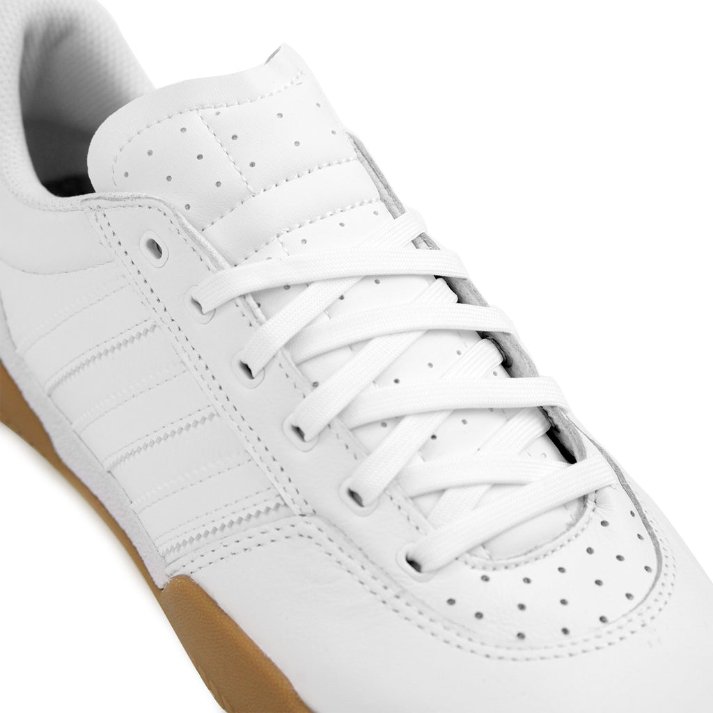 Adidas City Cup Shoes in White / White / Gum - Detail