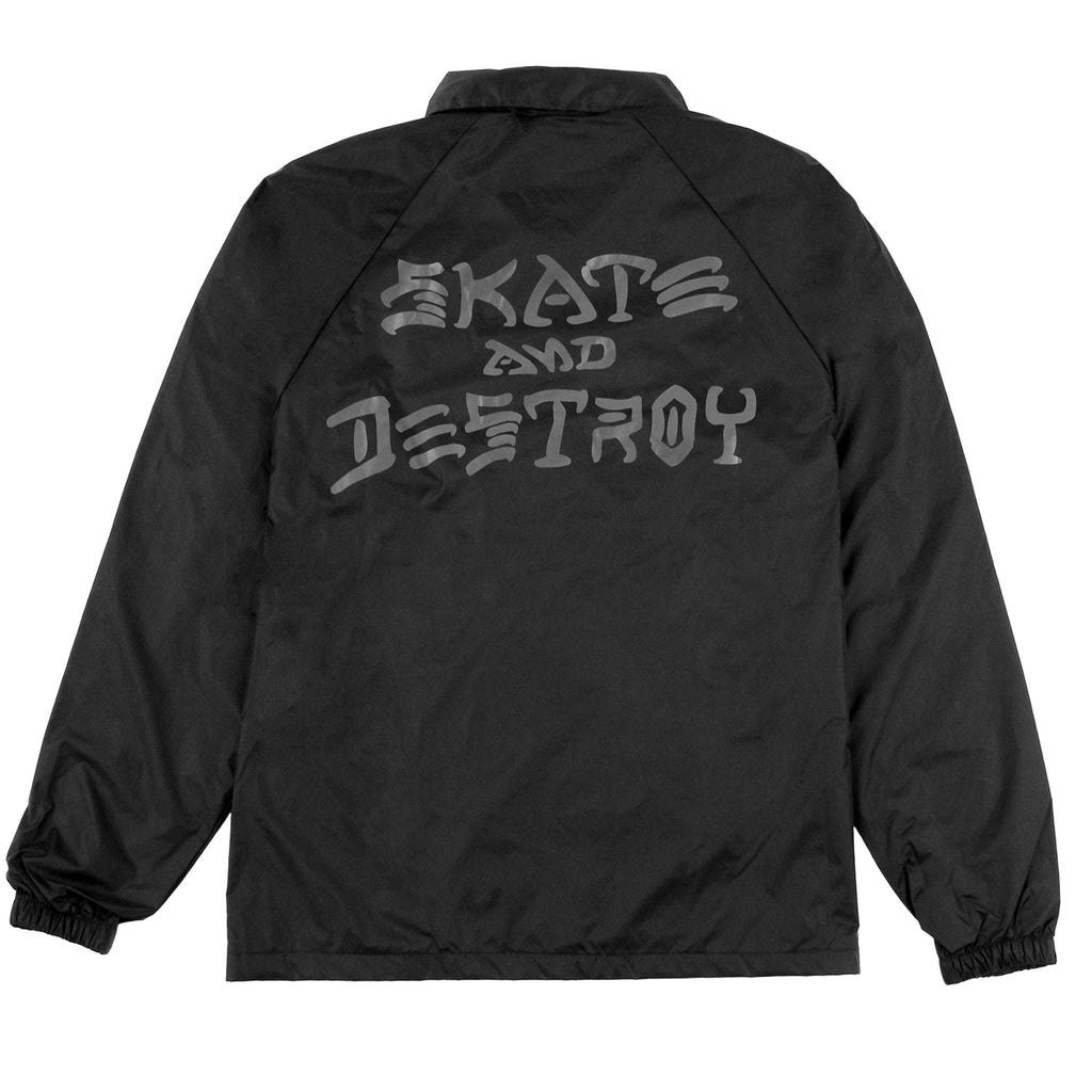 Thrasher Skate And Destroy Coaches Jacket in Black - Back