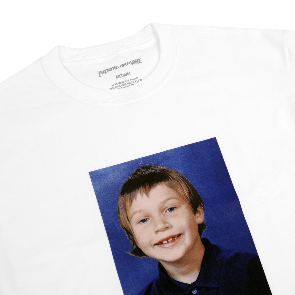 Fucking Awesome Elijah Class Photo T Shirt in White - Detail