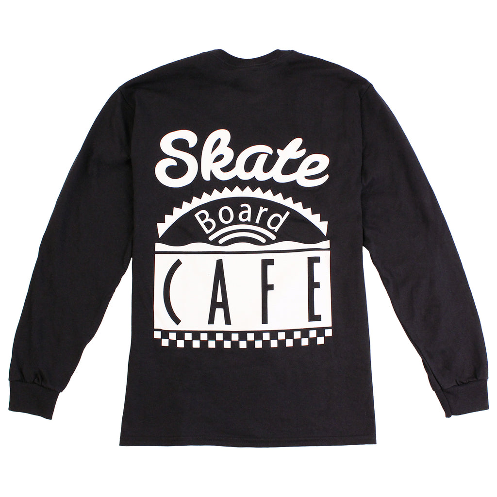 Skateboard Cafe Diner L/S T Shirt in Black