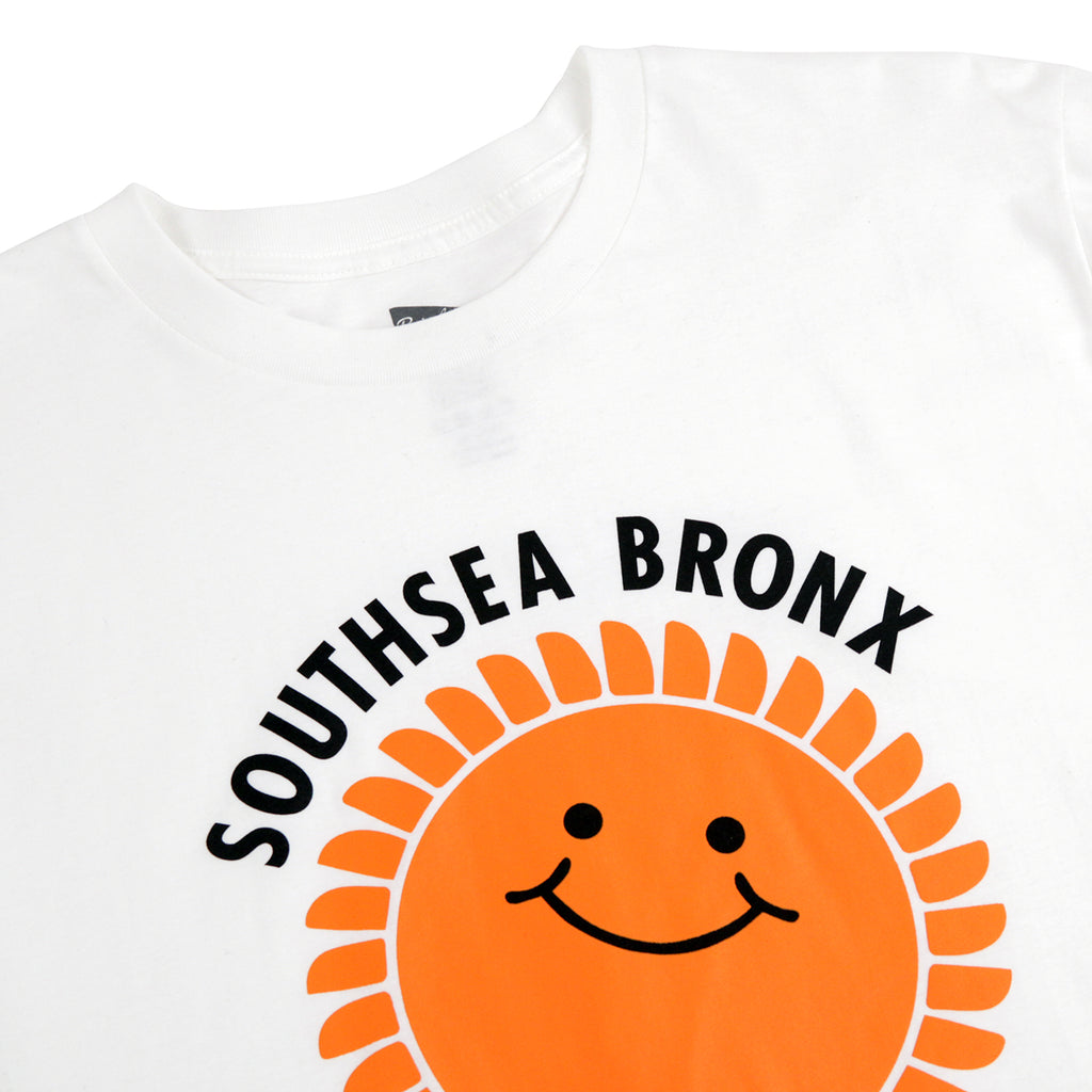 Southsea Bronx Strong Island T Shirt in White - Detail