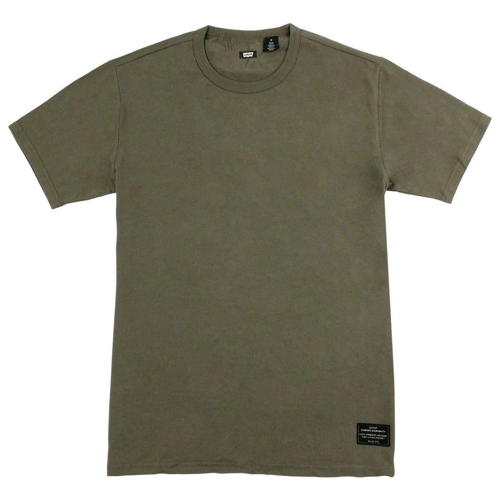 Levis Skateboarding 2 Pack T Shirt in Camo Print / Ivy Green - Ivy T Shirt