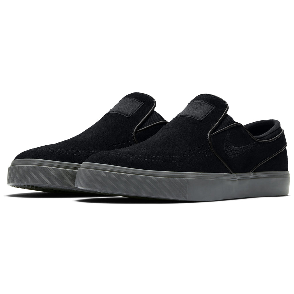 Nike SB Zoom Stefan Janoski Slip Shoes in Black / Black - Thunder Grey - Pair