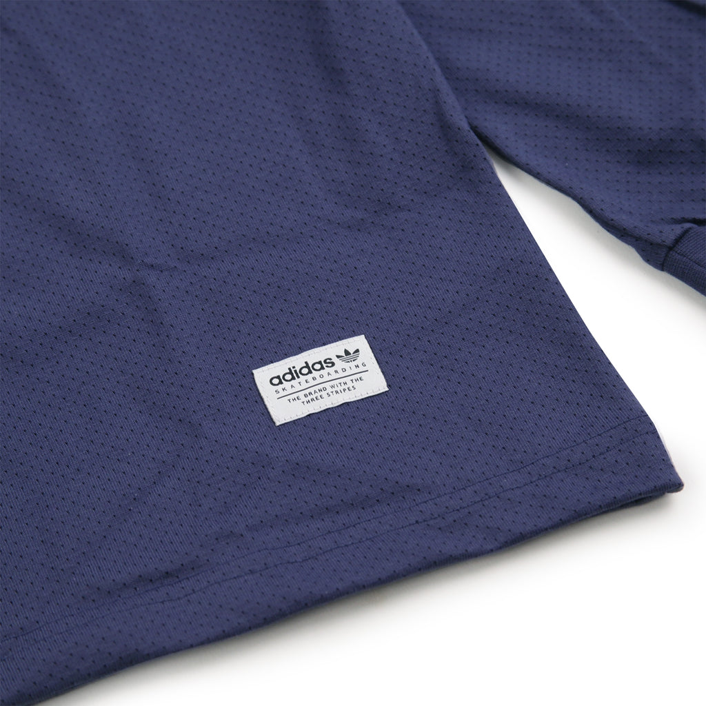 Adidas Skateboarding L/S Mesh Jersey in Noble Indigo - Label