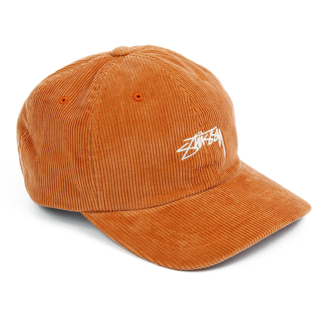 Stussy Corduroy Low Pro Cap in Orange