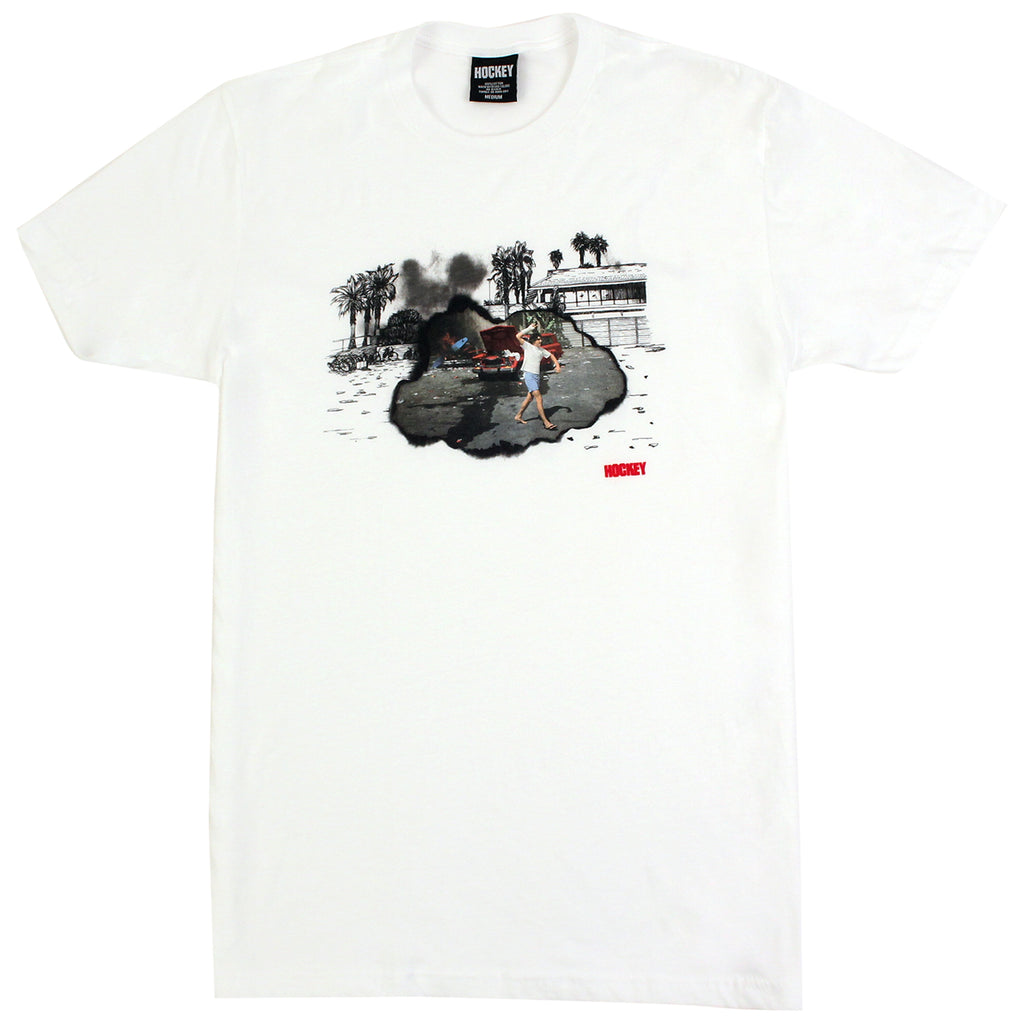 Hockey Skateboards Donny Surf Riot T Shirt in White