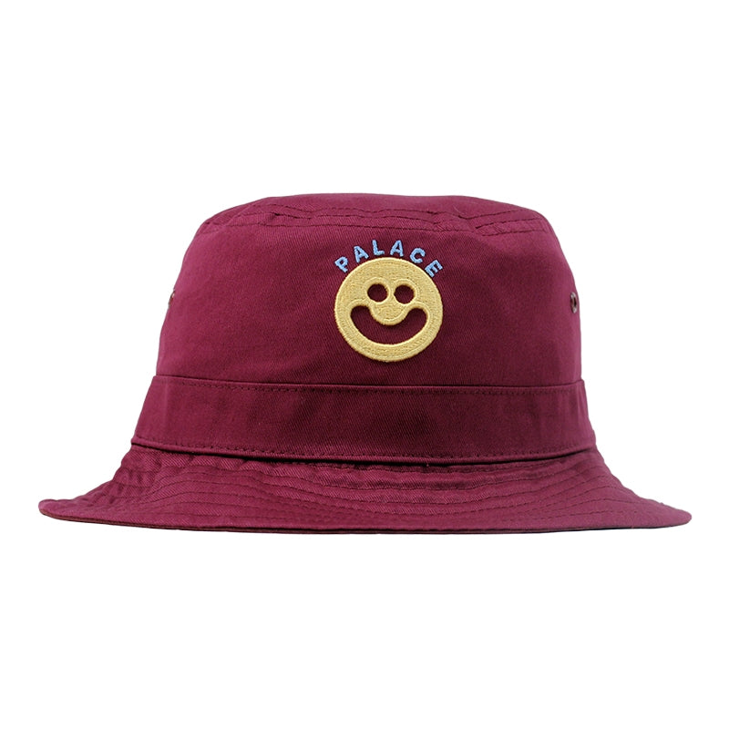 Palace Smiler Bucket Hat in Cordovan - Front