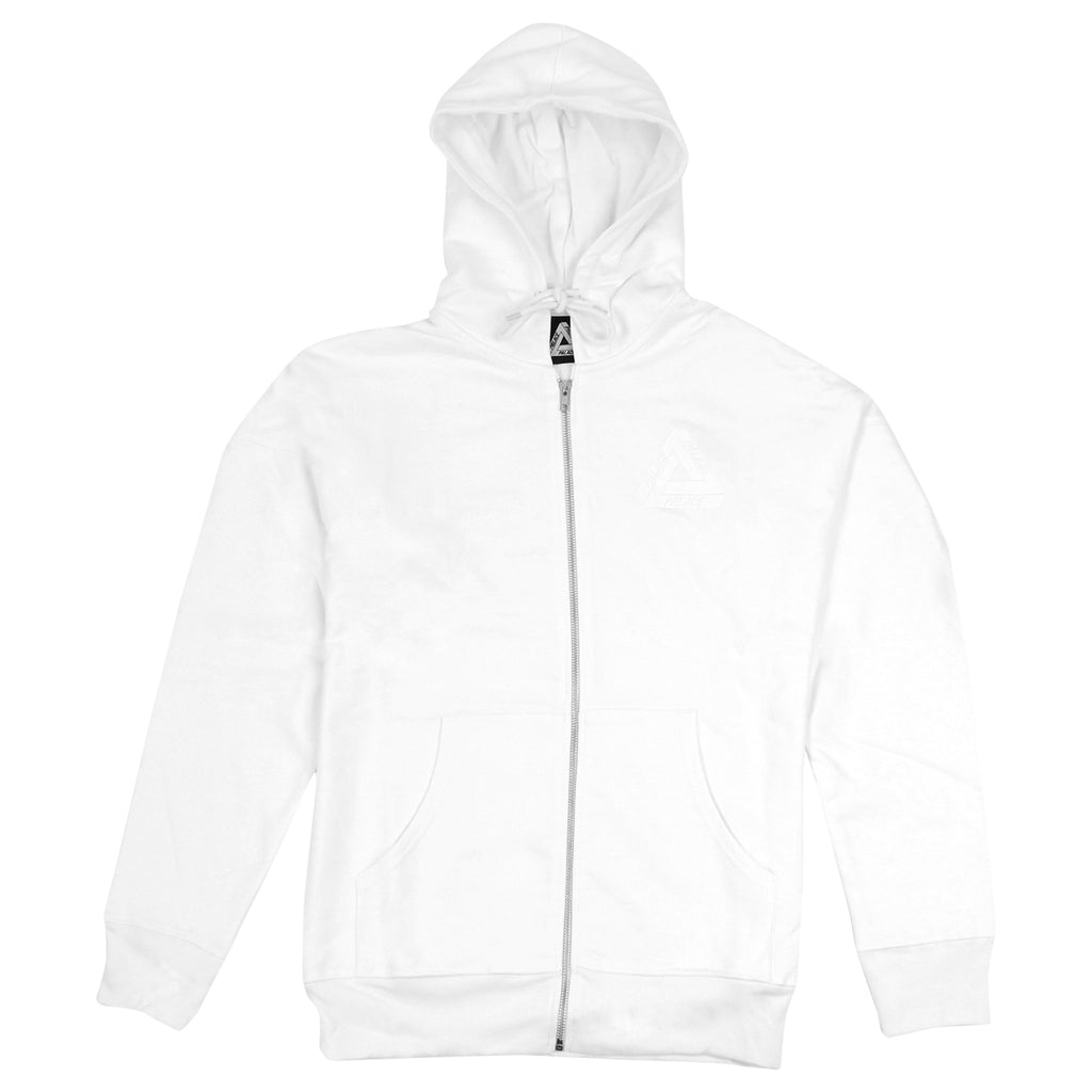 Palace Performance Zip Hood in White - Front