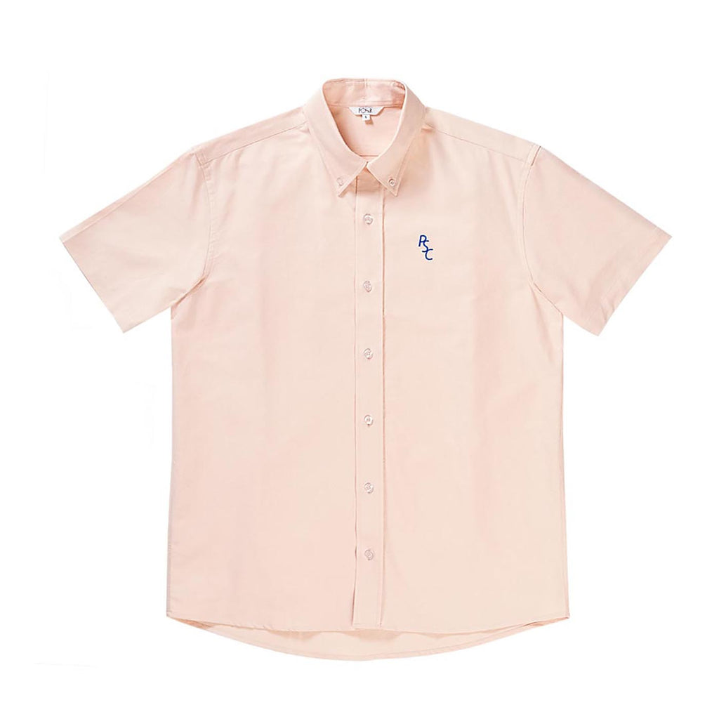 Polar Skate Co PSC Short Sleeve Oxford Shirt in Peach