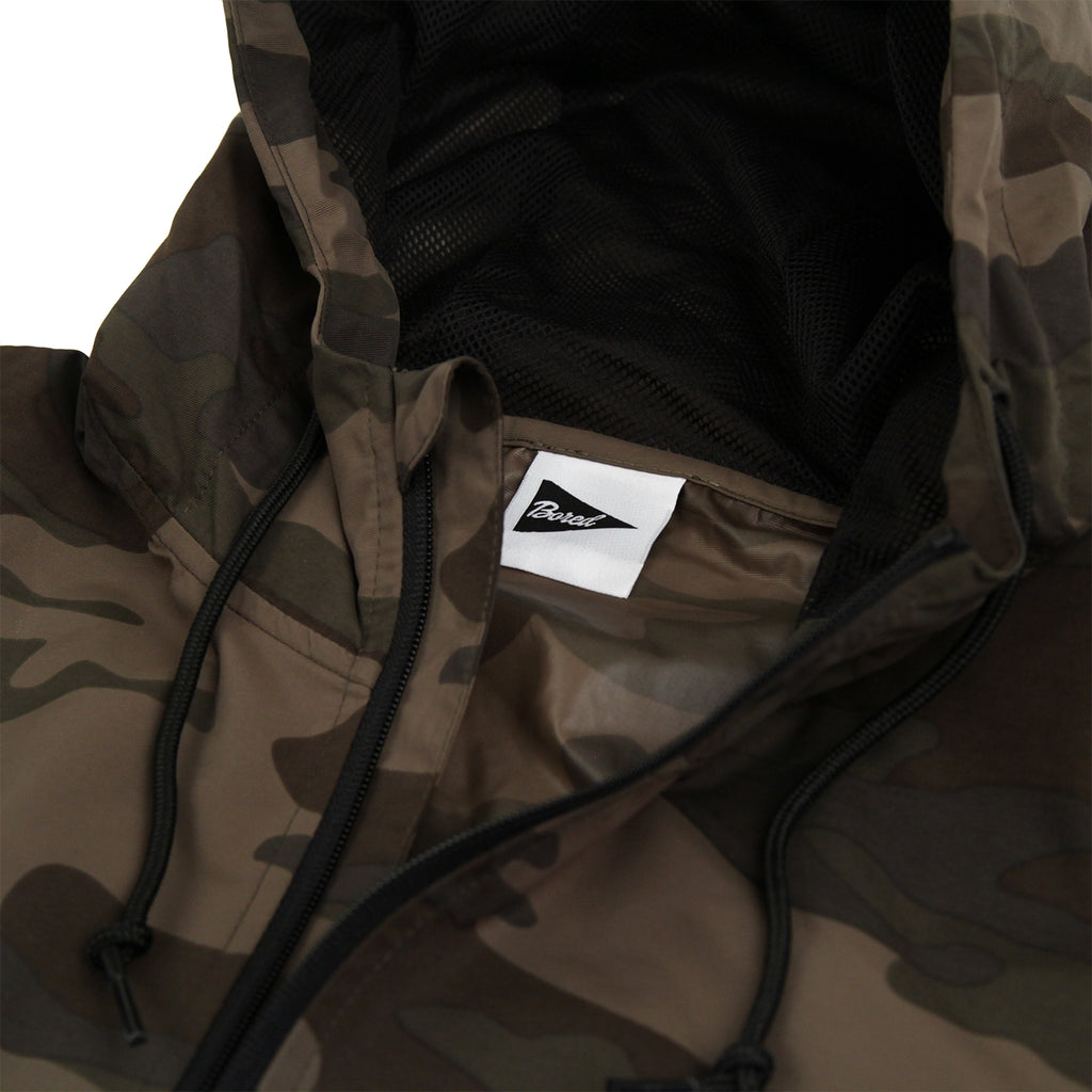 "Bored of Southsea ""Southsea"" Windbreaker Anorak Jacket in Camo - Neck label"
