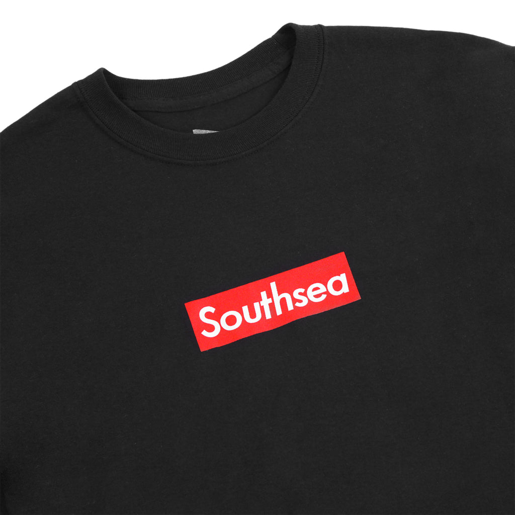 "Bored of Southsea ""Southsea"" L/S T Shirt in Black / Red Box - Detail"