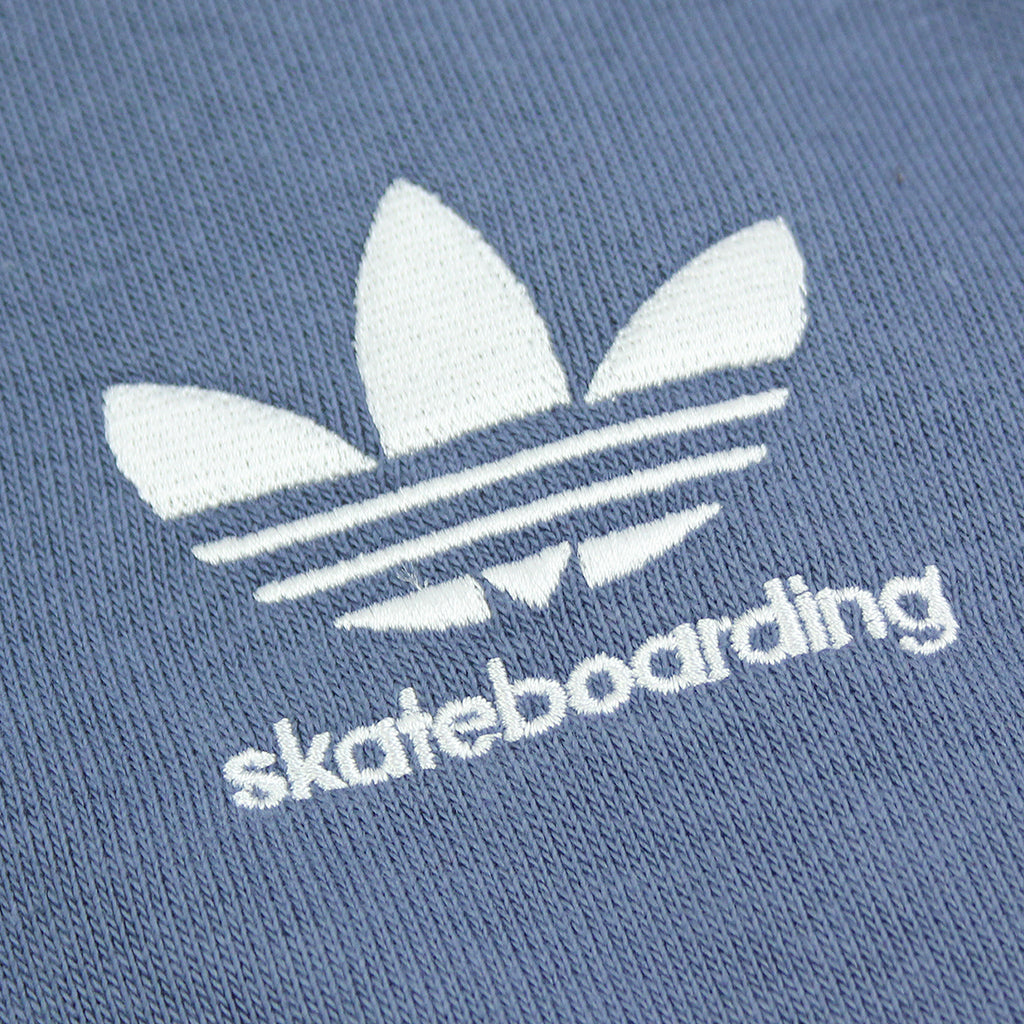 Adidas Skateboarding ADV Blocked Hoodie in Carbon / Faded Ink / Burgundy - Embroidery