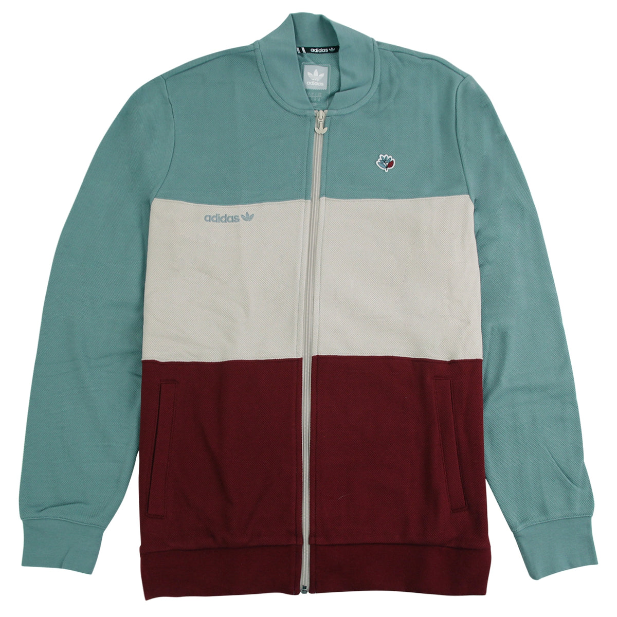 39e44b283aa Adidas x Magenta Skateboards Jacket in Vapour Steel   Clear Brown   Collegiate  Burgundy by Adidas Skateboarding