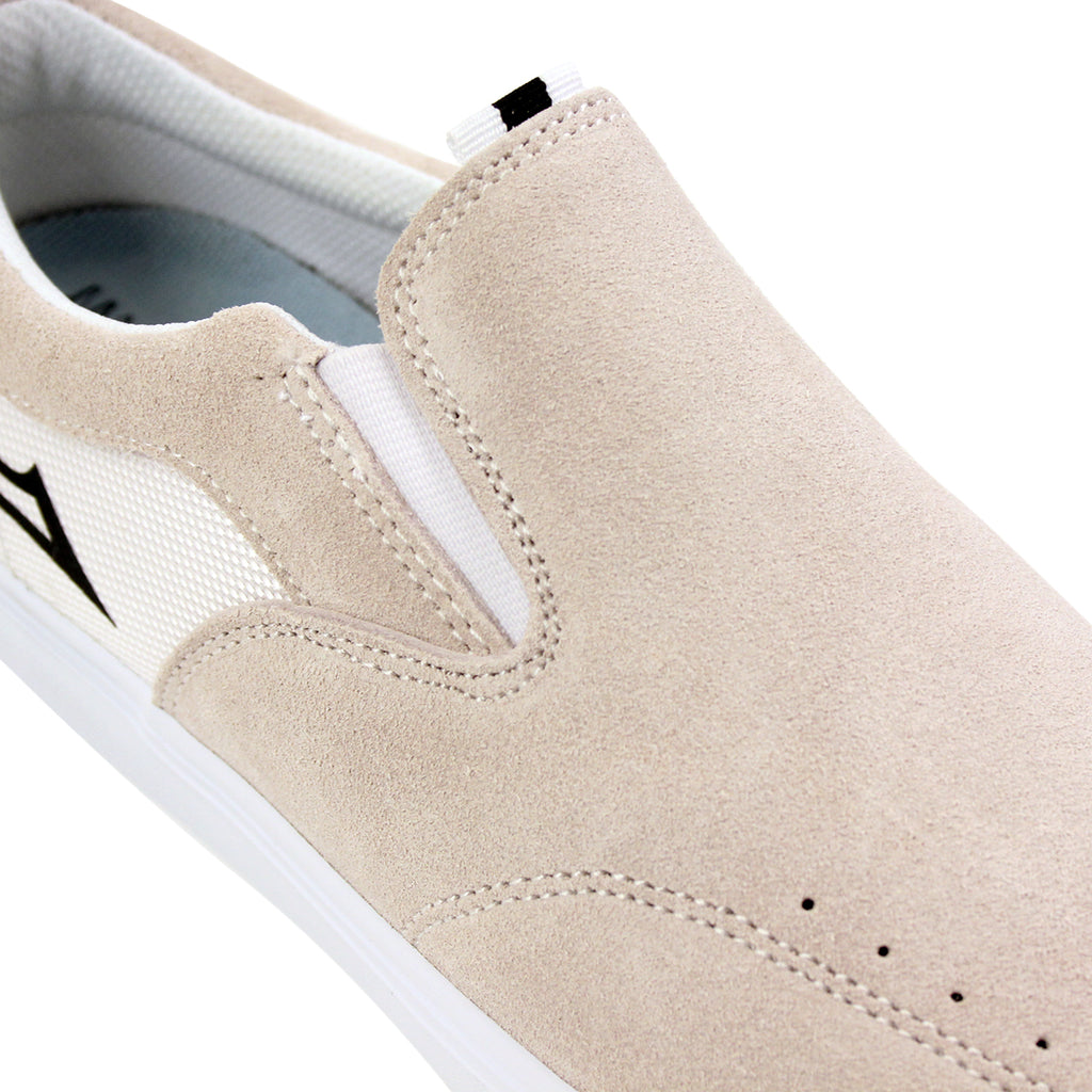 Lakai Owen Chalk Pack Shoes in White - Detail