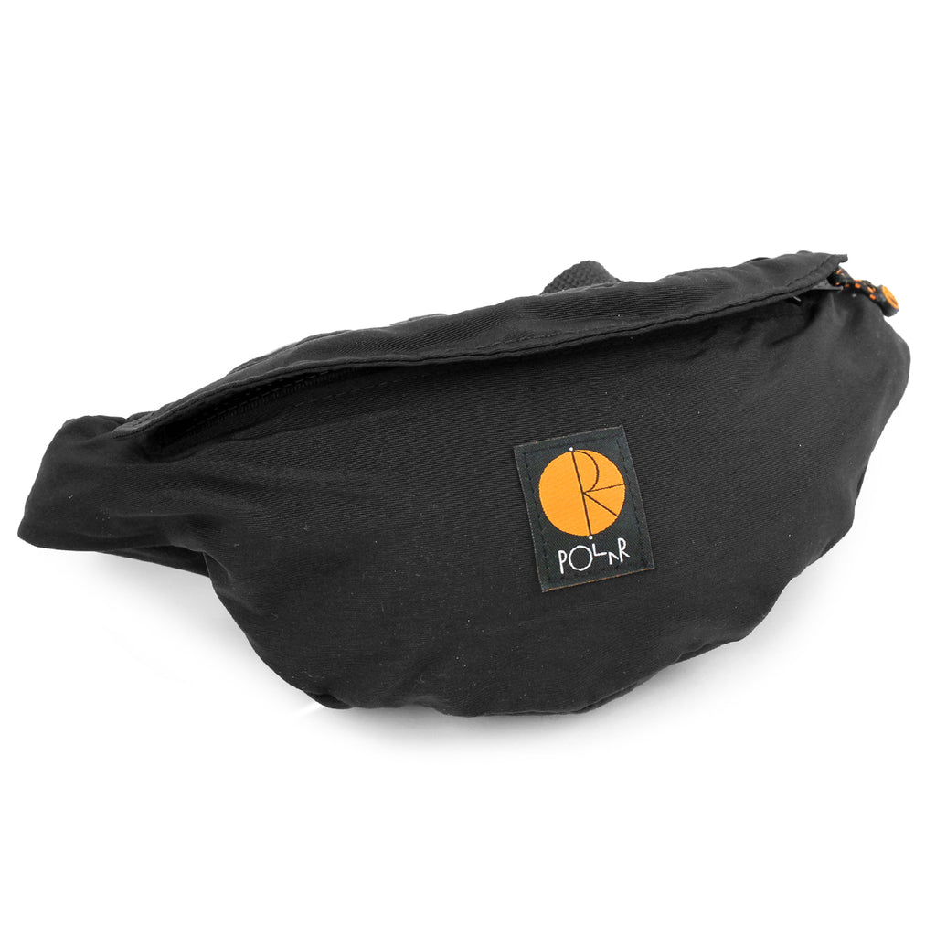 Polar Skate Co Nylon Hip Bag in Black / Orange - Detail