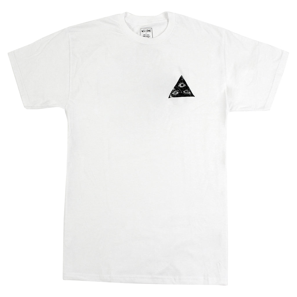 Welcome Skateboards Talisman Fill T Shirt in White / Black - Front