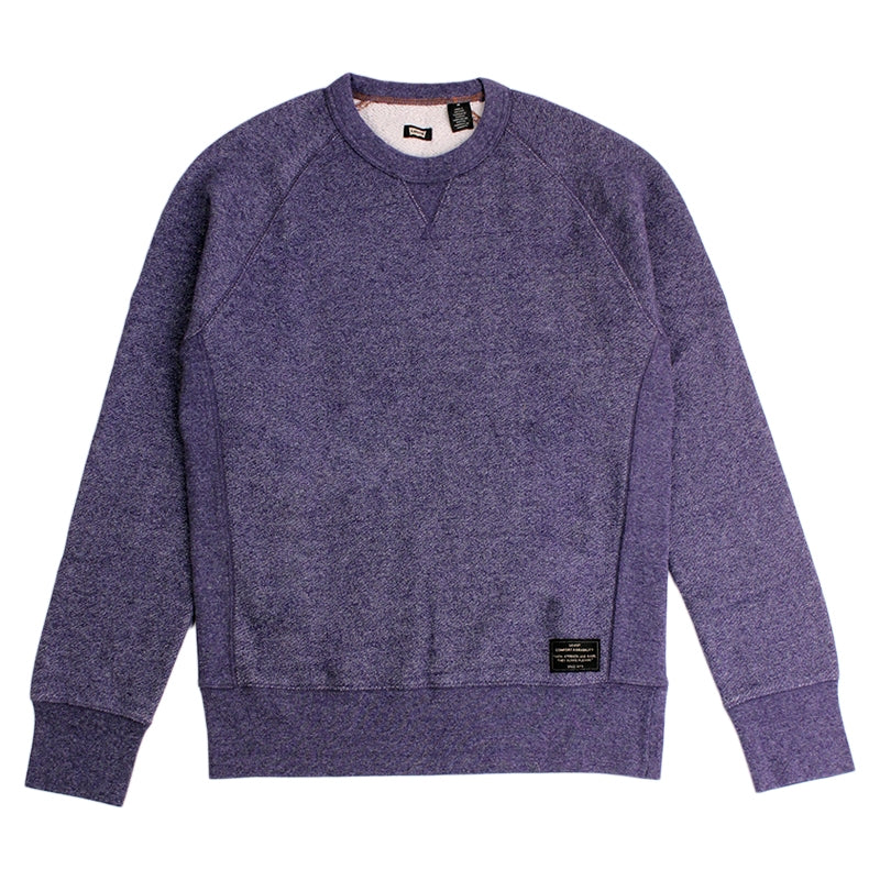 Levi's Skateboard Collection Skate Crewneck Fleece in Patriot Blue Heather