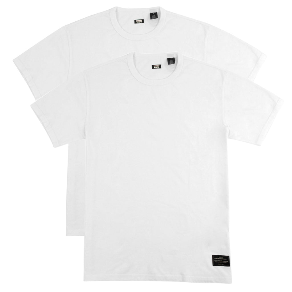 Levis Skateboarding 2 Pack T Shirt in Bright White - Double