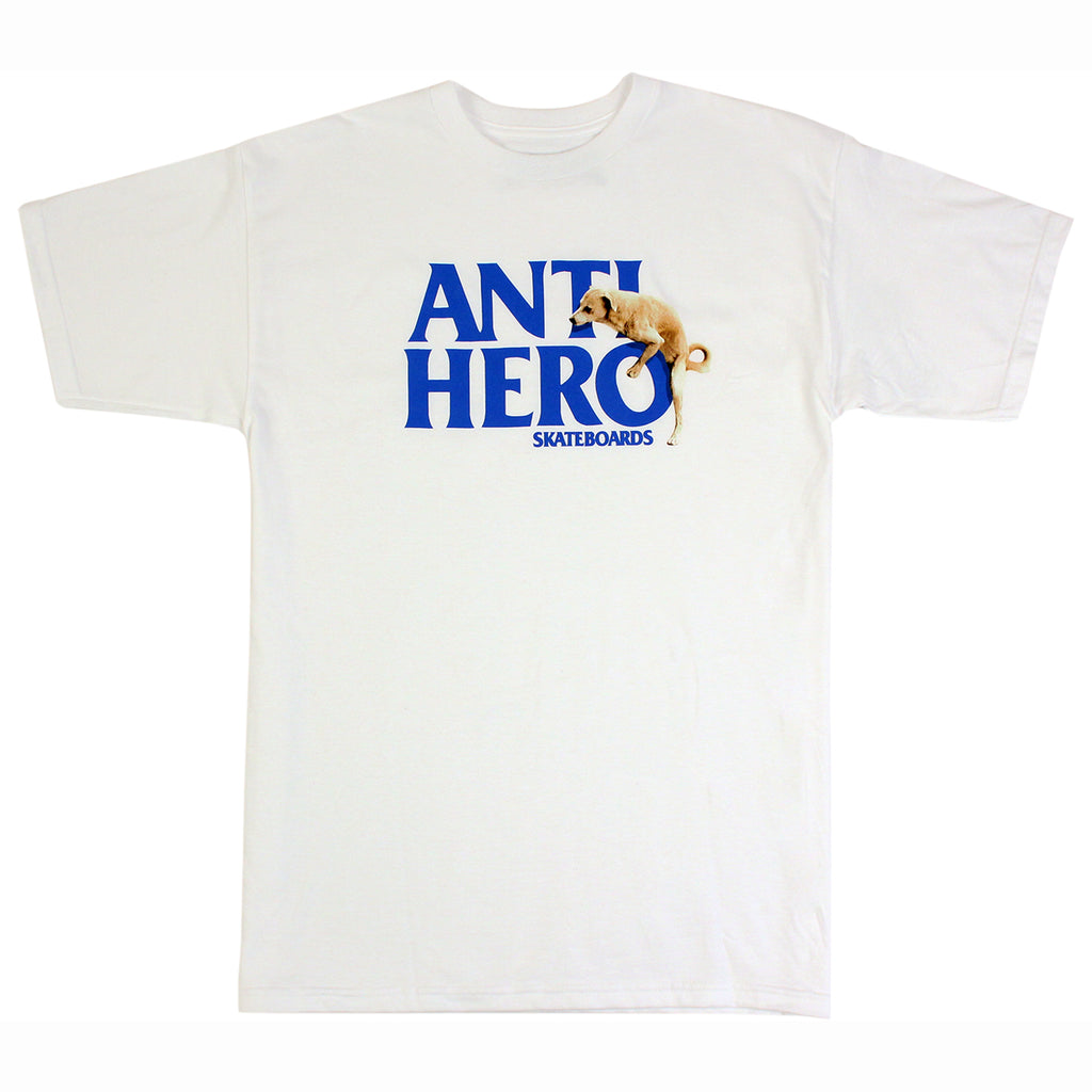 Anti Hero Skateboards Dog Hump Hero T Shirt in White
