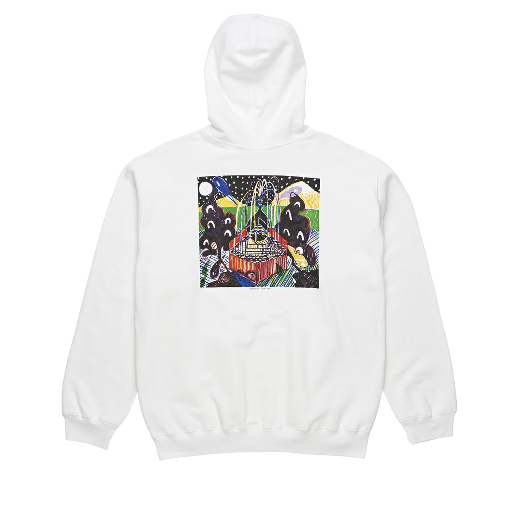 Polar Skate Co Fountain Hoodie in White