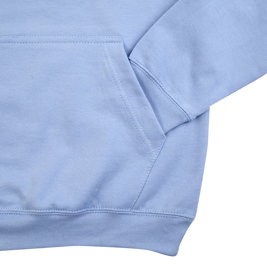 14:01 Skateboard Co Logo Hoodie in Sky Blue - Pocket