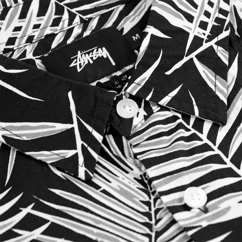 Stussy Palm S / S Shirt in Black - Collar