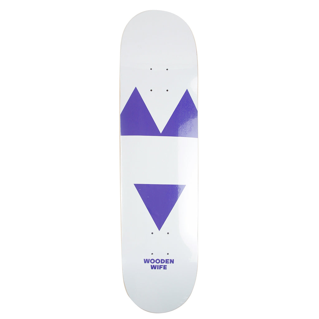 Wooden Wife Skateboards Logo Skateboard Deck in White