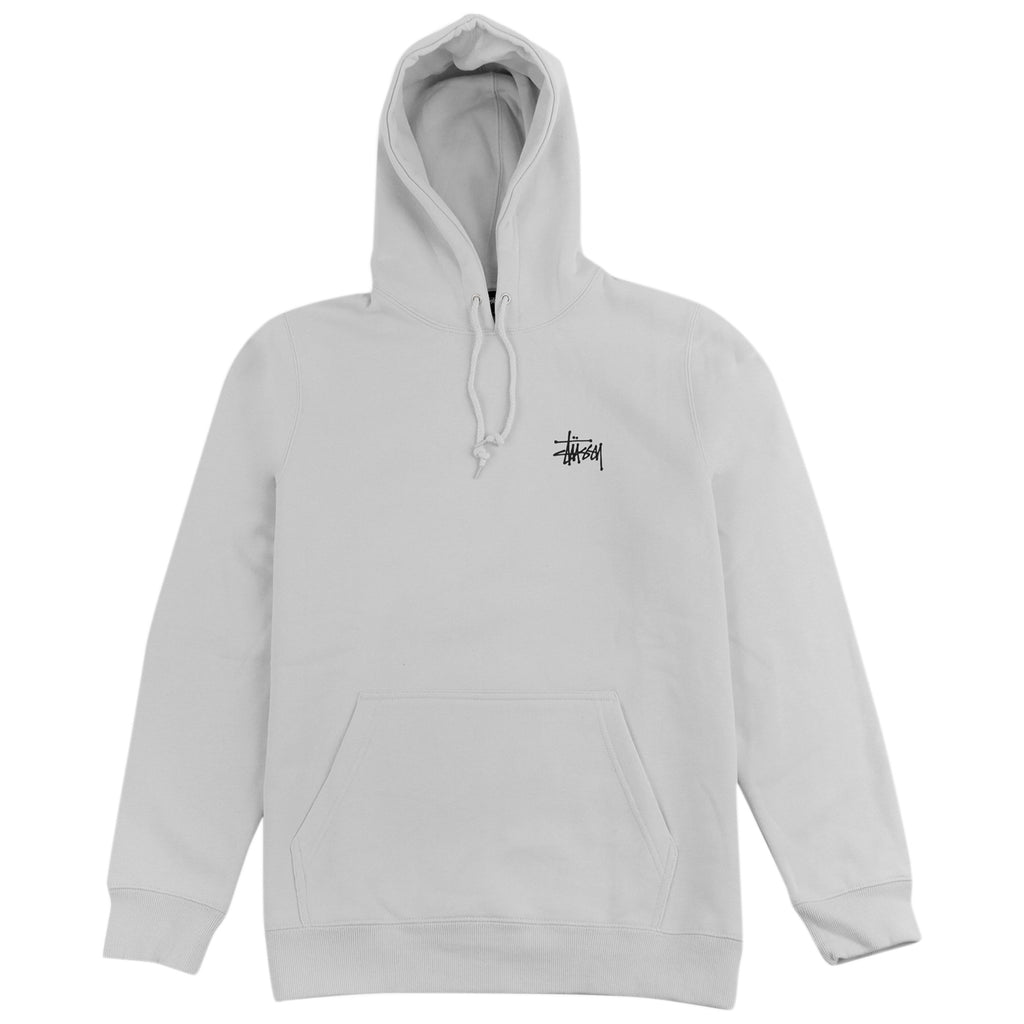 Stussy Basic Stussy Hoodie in Stone - Front