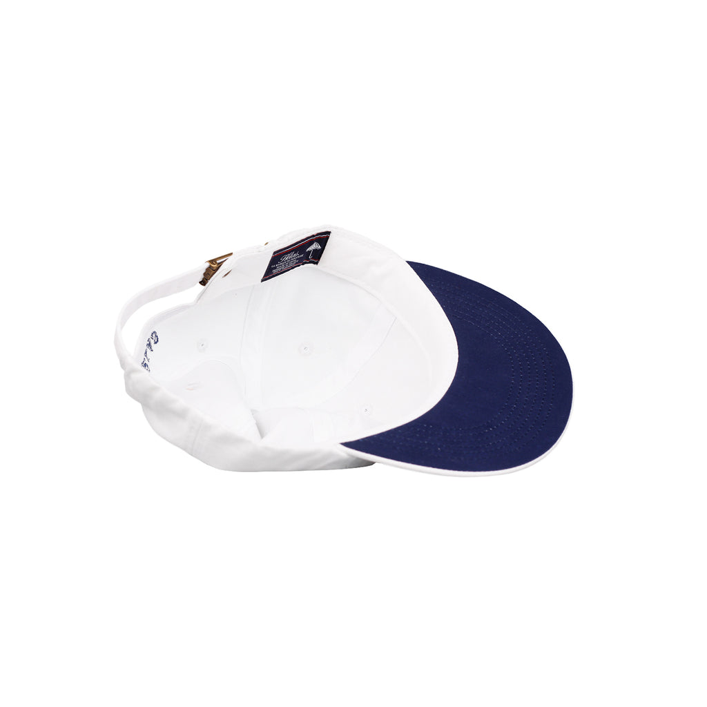 Helas Classic 6 Panel Cap in White / Navy - Inside