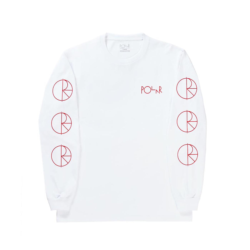 Polar Skate Co Racing L/S T Shirt in White