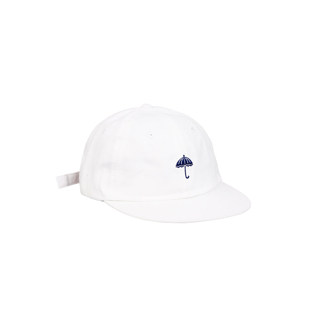 Helas Classic 6 Panel Cap in White / Navy